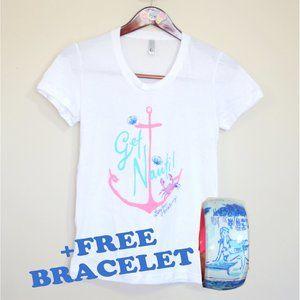 Lilly Pulitzer tee + FREE bracelet nautical beach